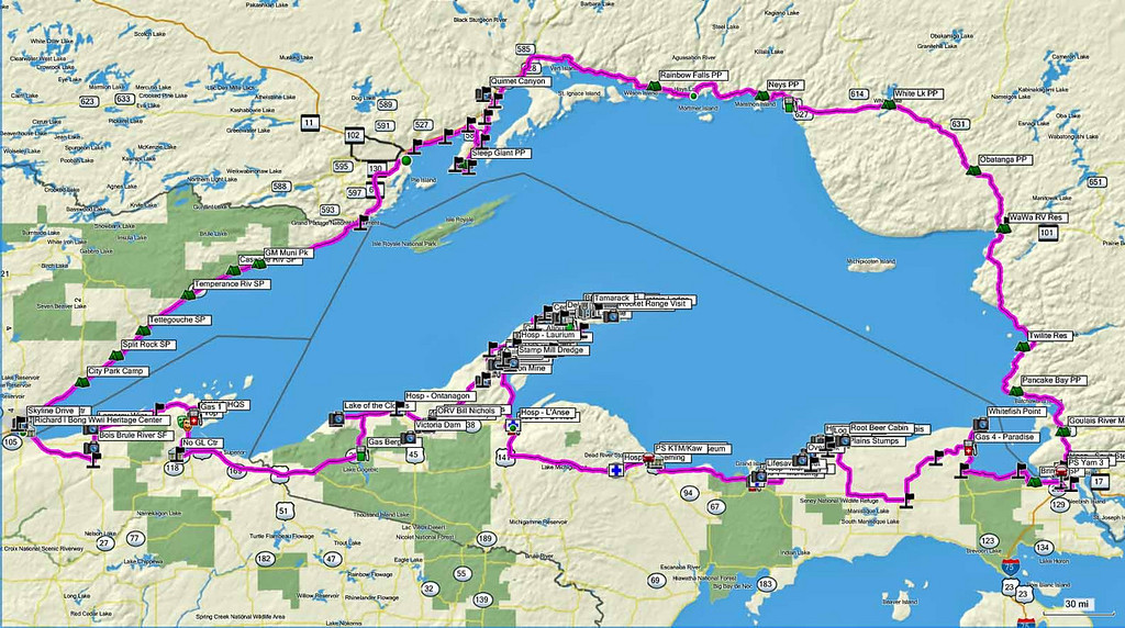 Daves World  View topic  CannonTracks  Lake Superior Circle Route